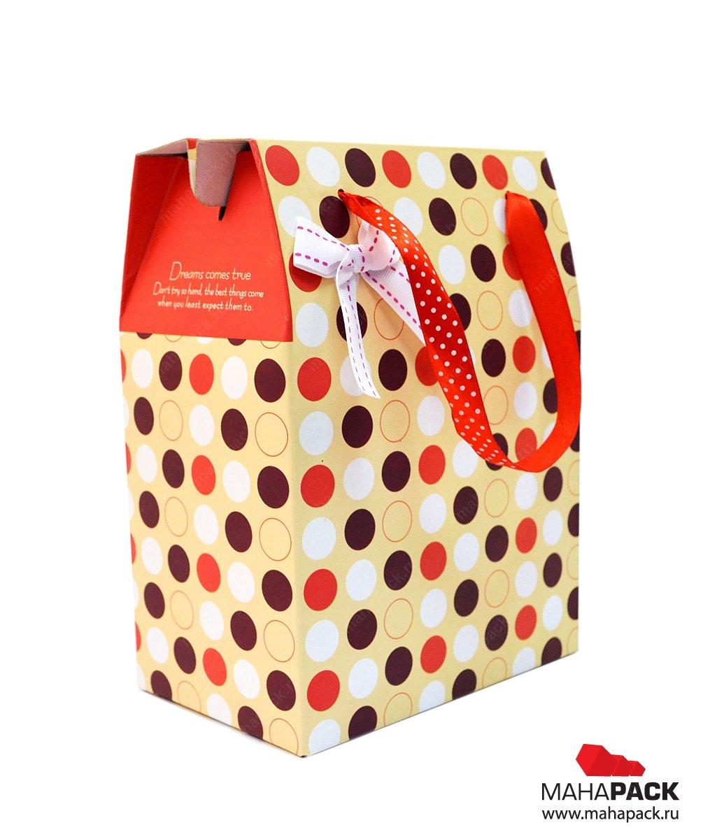 Подарочная коробка со складным дном