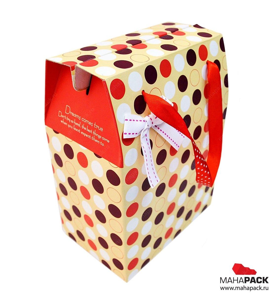 Картонная коробка со складным дном