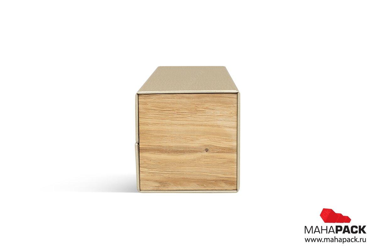 упаковка для бутылки вина с деревянными вставками