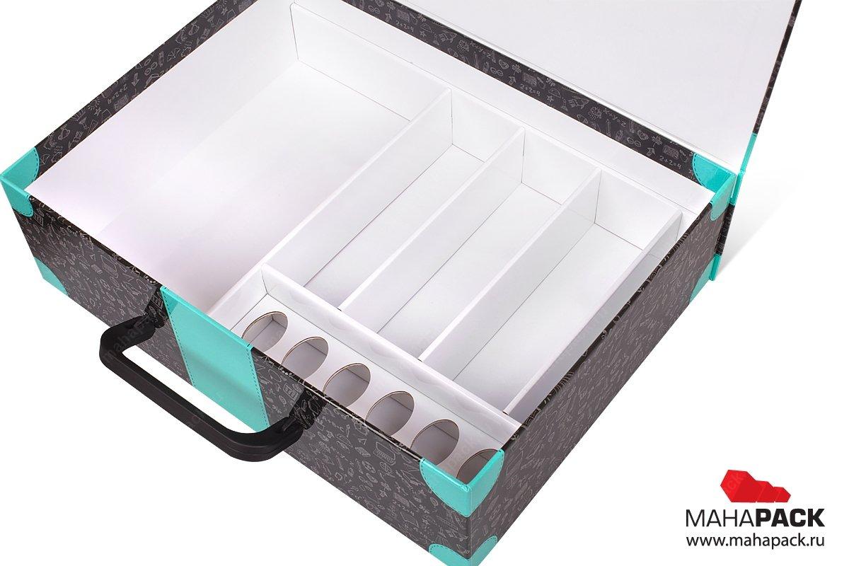 коробки для сувениров с ручкой и ложементом